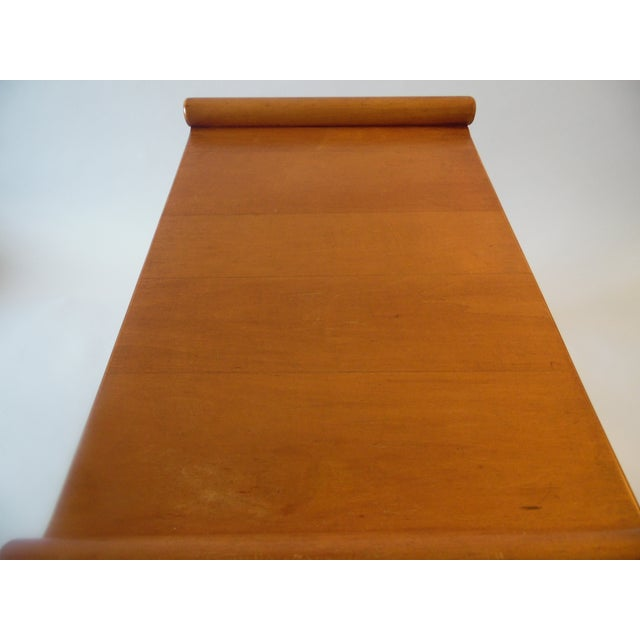 Mid- Century Wood Light Brown Color Bench - Image 7 of 11