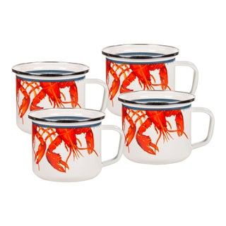 Grande Mugs Lobster - Set of 4 For Sale