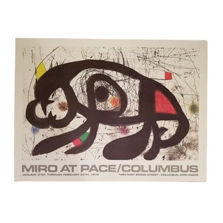Miro Original Exhibition Poster Pace Gallery Columbus, 1979