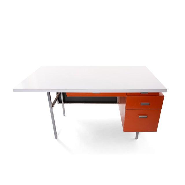 Mid-Century Modern George Nelson Herman Miller Modern Management Desk & Return - 2 Pc. Set For Sale - Image 3 of 9