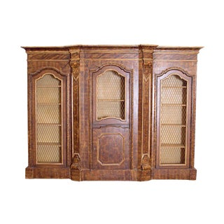 Mid-19th Century Italian Rococo Style Bookcase For Sale