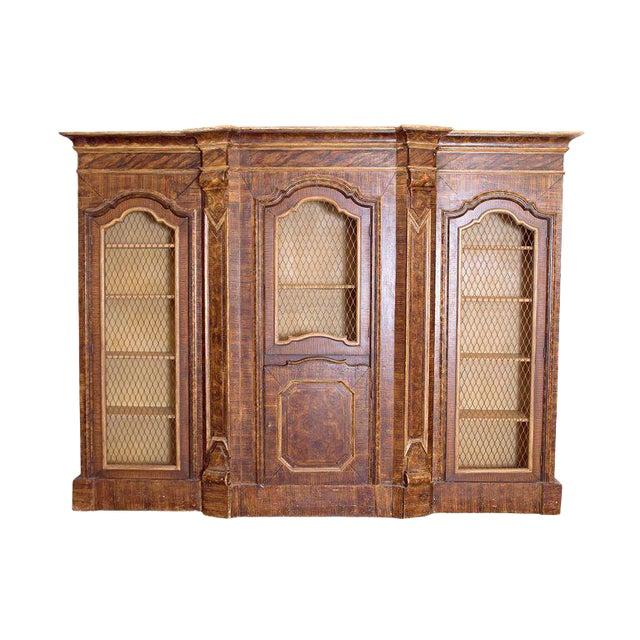 Mid-19th Century Italian Rococo Style Bookcase For Sale