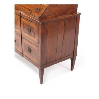 Late 18Th C Italian Fruitwood Inlaid Secretaire Bookcase Preview