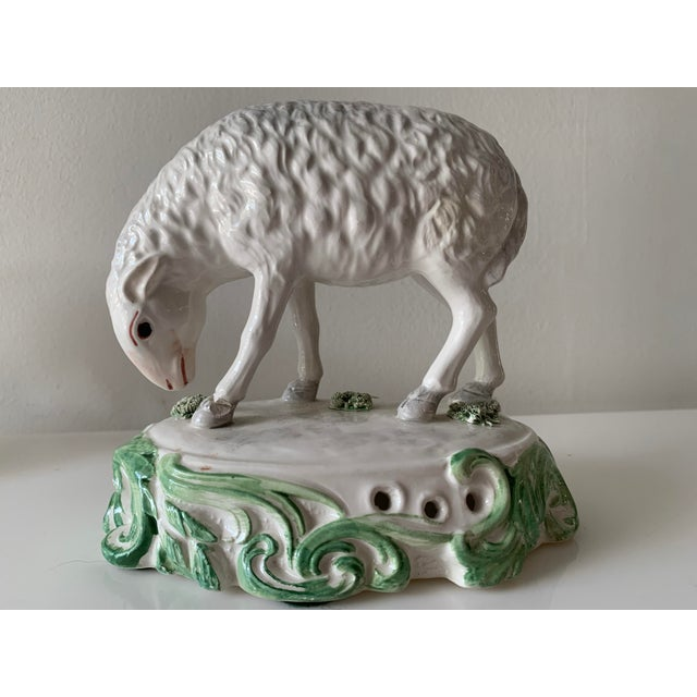 Mid 20th Century Mid 20th Century Chelsea House Sheep Made in Italy - a Pair For Sale - Image 5 of 9