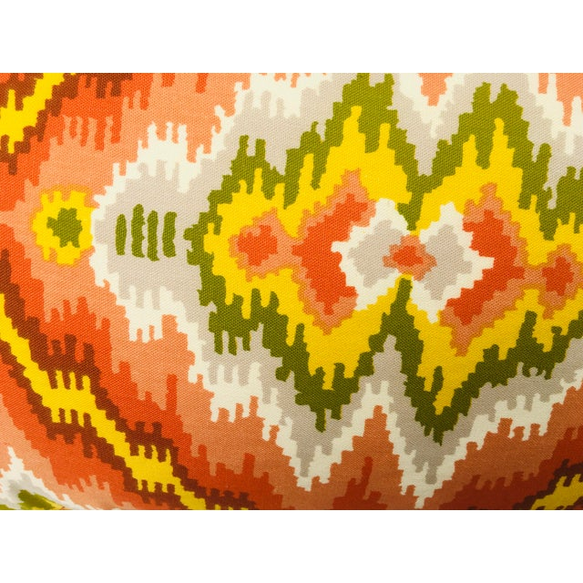 1970s Mid Century Brunschwig and Fils Cotton Print Pillows - a Pair For Sale - Image 5 of 10
