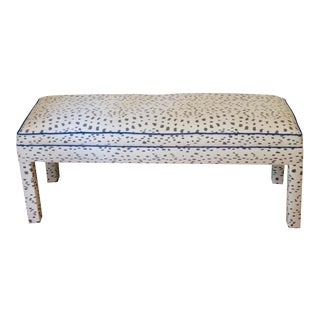 Contemporary Parsons Bench With Brunschwig and Fils Les Touches For Sale
