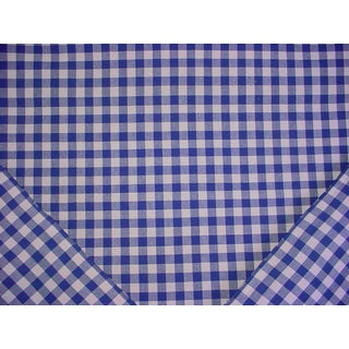 Shyam Ahuja Small Check Sapphire Handwoven Cotton Plaid Upholstery Fabric - 6-5/8 Yards For Sale