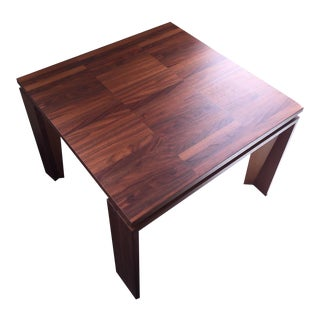 Modern Walnut End Table For Sale