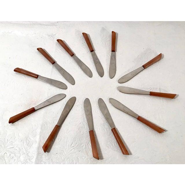 Metal Vintage Mini Spreader Knives - Set of 12 For Sale - Image 7 of 7