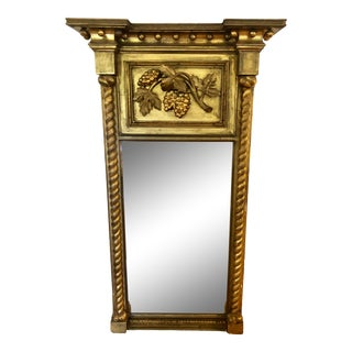 Antique Federal Style Gold Mirror For Sale