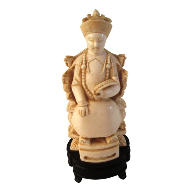 Chinese Mid Century Seated Empress Sculpture - Image 1 of 8