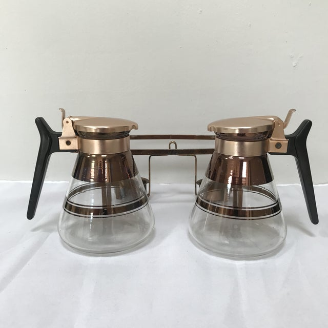 "1950s 1950s Mid-Century Modern ""Inland Glass Co"" Waffle/Coffee Carafes - 3 Pieces For Sale - Image 5 of 7"