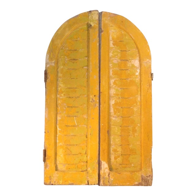 Rustic Arch Top Shutters - a Pair - Image 1 of 8