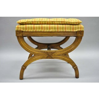 Karges X Frame French Neoclassical Regency Style Curule Stools Benches - a Pair Preview