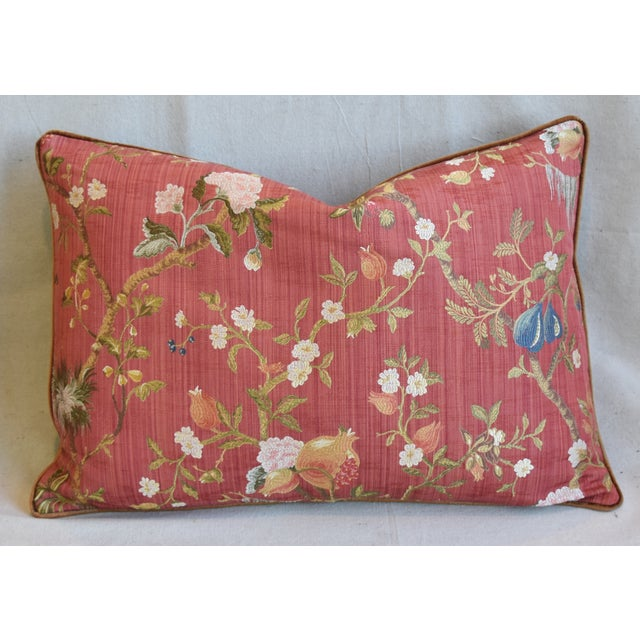 """Italian Scalamandre Melograno Silk Feather/Down Pillows 26"""" X 18"""" - Pair For Sale In Los Angeles - Image 6 of 13"""