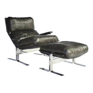 Richard Hersberger for Saporiti Lounge Chair and Ottoman For Sale