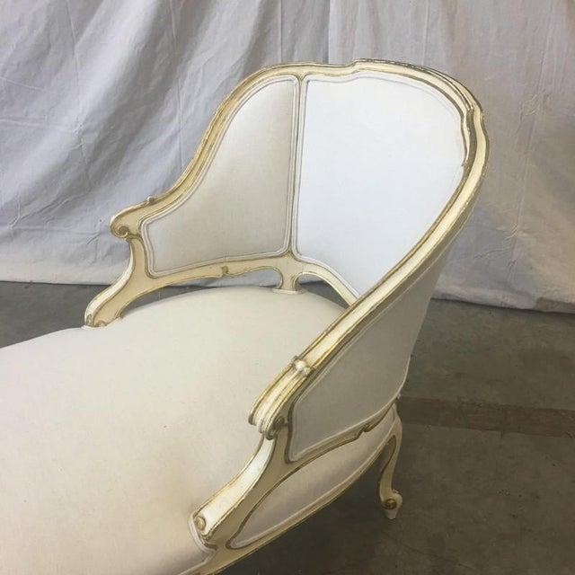 Italian Parcel Gilt Chaise Lounge Recaimier Fainting Sofa - Image 4 of 8