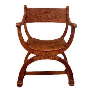 Vintage Renaissance Revival Style Chair For Sale