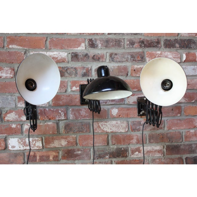 Bauhaus Christian Dell for Kaiser Extendable Wall Lamp For Sale - Image 3 of 10