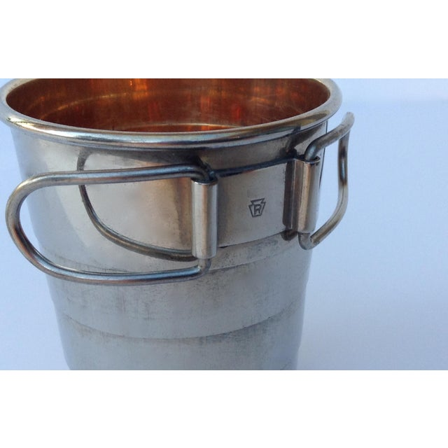 Rare C.F. Rumpp & Sons Silver Plate Collapsible Gentleman's Traveling Cup For Sale - Image 10 of 11