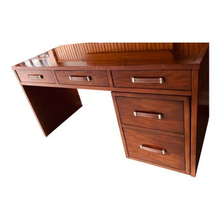 Alexa Hampton Brand Wooden Writing Table and Matching Filing Cabinet For Sale