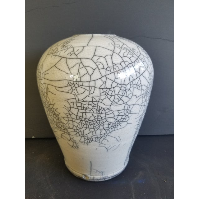 Contemporary Les Mitchell Raku Vase For Sale - Image 3 of 7