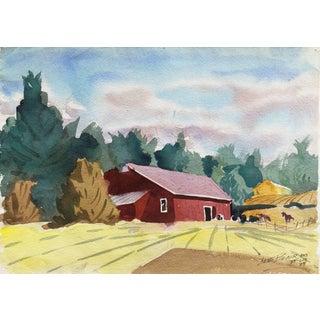 Lee Everett Blair, 'California Horse Ranch', California Watercolor Society, 1989 For Sale