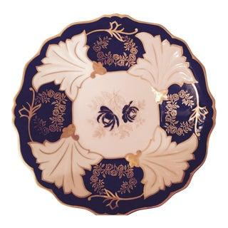 Echt Weimar Cobalt German Porcelain Plate