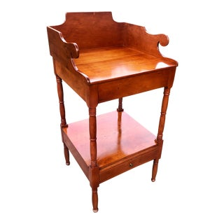 19th Century American Classical Sheraton Wash Stand Side Table For Sale