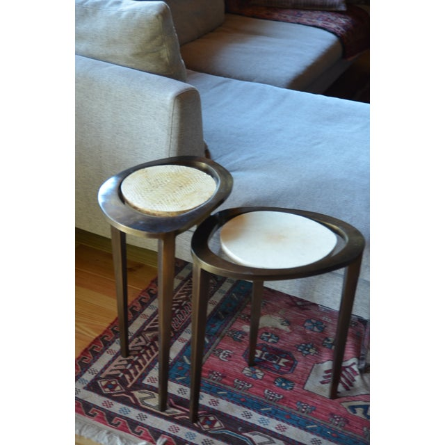 R & Y Augousti Bronze Nesting Side Tables - Image 10 of 10