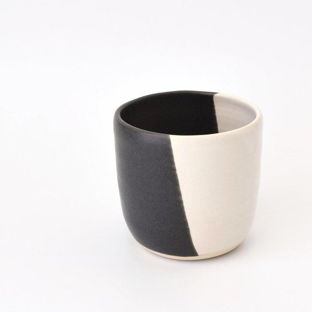 Contemporary Contemporary Handmade Black and White Tumbler by FisheyeCeramics For Sale - Image 3 of 3