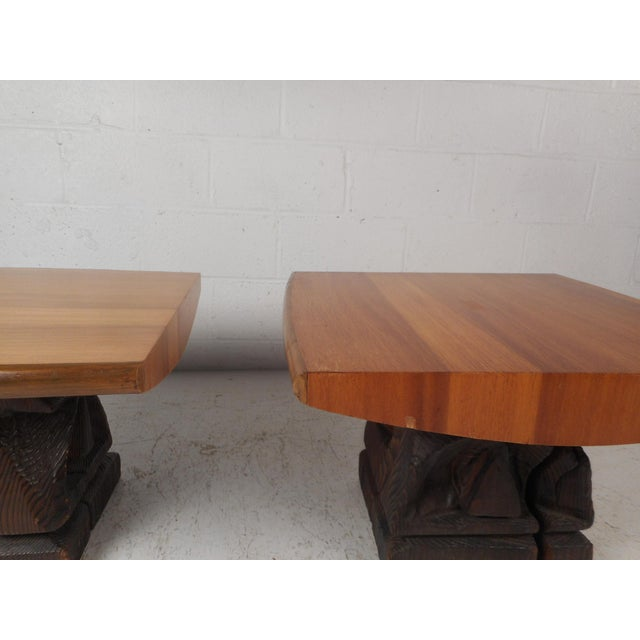 Pair of Midcentury Totem End Tables by Witco For Sale - Image 9 of 13