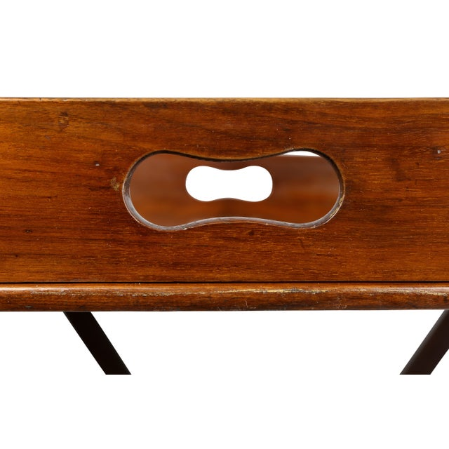 Mid 19th Century Victorian Mahogany Tray Table on Stand For Sale - Image 5 of 8