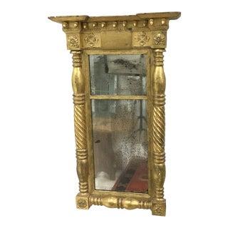 1820 Vintage American Empire Gilt Pier Mirror For Sale