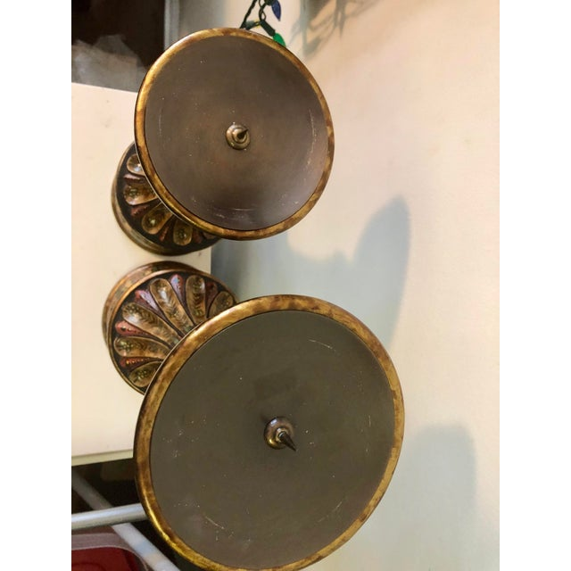 Bradburn Home Paisley Candleholders - a Pair For Sale - Image 9 of 13