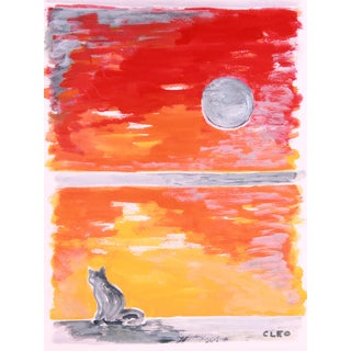 Abstact Sunset Painting by Cleo For Sale