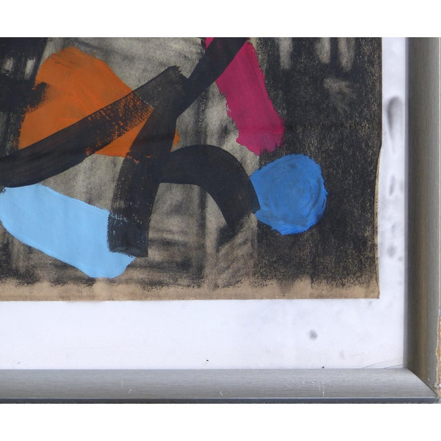 Peter Keil 1960s Abstract Mixed Media Painting by Peter Robert Keil For Sale - Image 4 of 9