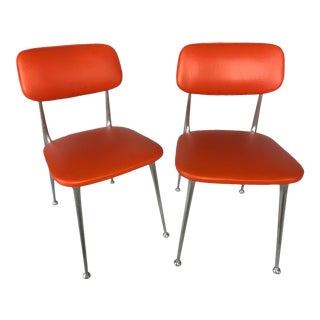 Great 1960s Gazelle Chairs - Aluminum Frames, Newly Upholstered - a Pair For Sale