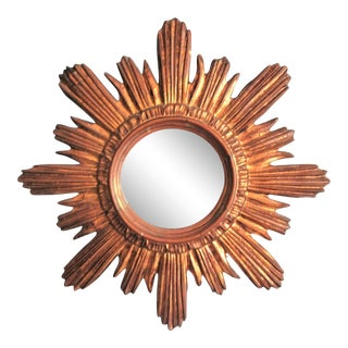 Mid Century French Sunburst Mirror
