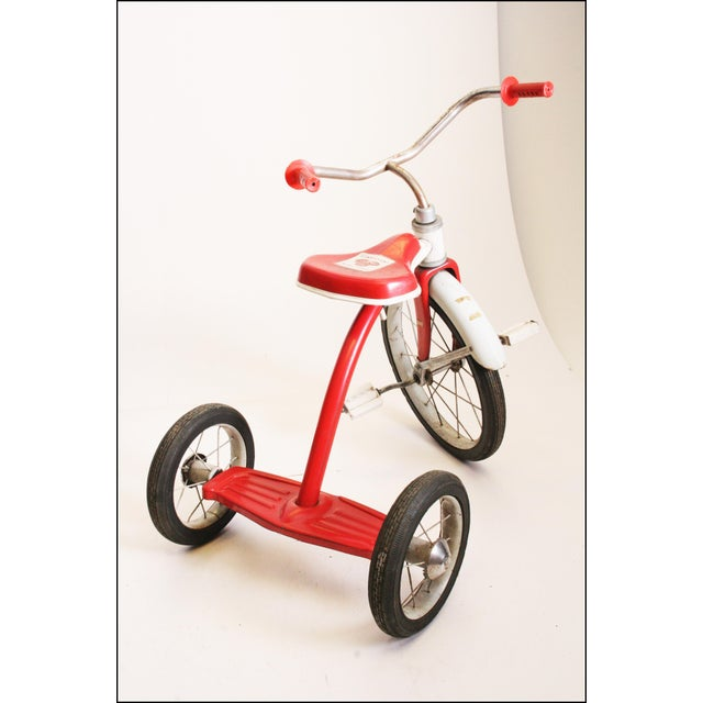 Metal Vintage Red Metal Child's Tricycle For Sale - Image 7 of 11