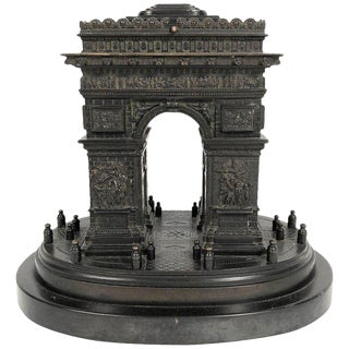 19th Century Grand Tour Bronze Architectural Model of the Arc De Triomphe, Paris For Sale