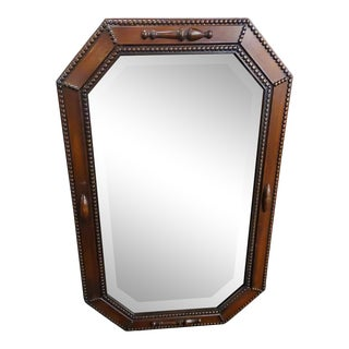 Antique Jacobean-Style Octagonal Beveled Mirror For Sale