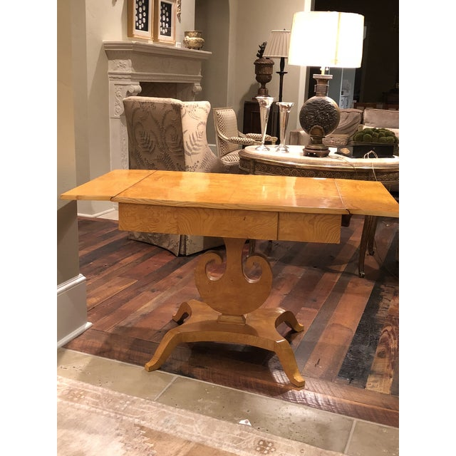 Art Deco Maple Drop-Leaf Table For Sale - Image 4 of 10