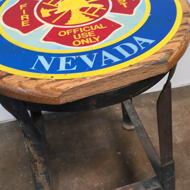 Vintage Industrial Firehouse Stool - Image 5 of 9