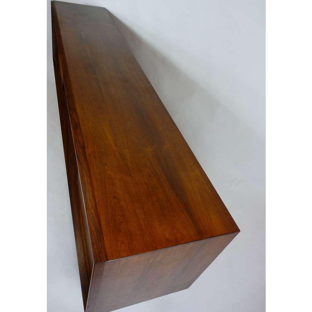 Exceptional Danish Rosewood Credenza For Sale - Image 9 of 10