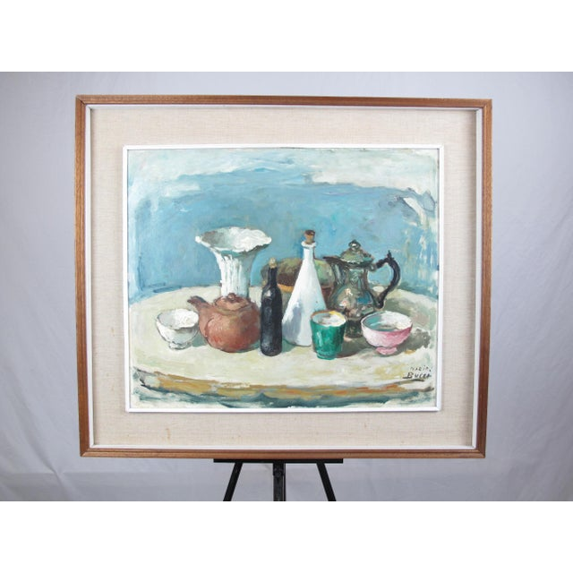 Paint Vintage Mid-Century Mario Bucci Still Life Painting For Sale - Image 7 of 7