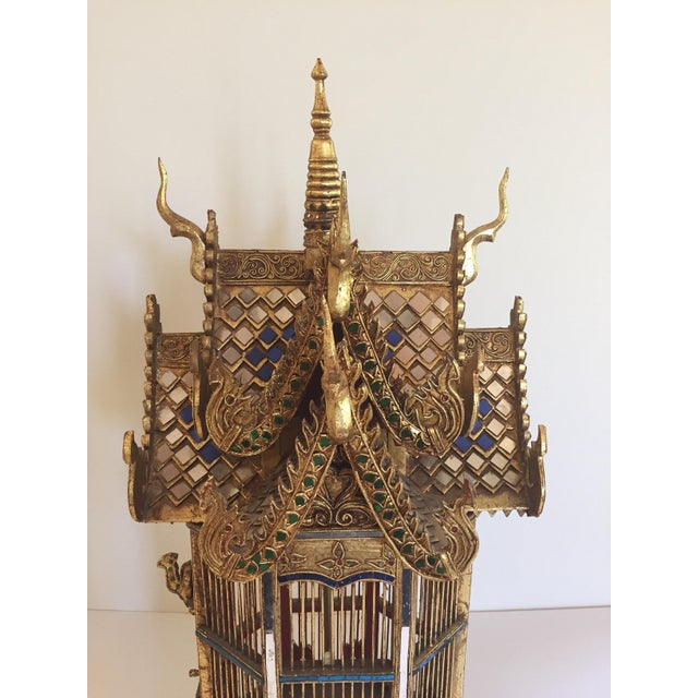 1940s Asian Spirit House Thai Shrine Temple Bird Cage For Sale - Image 5 of 12