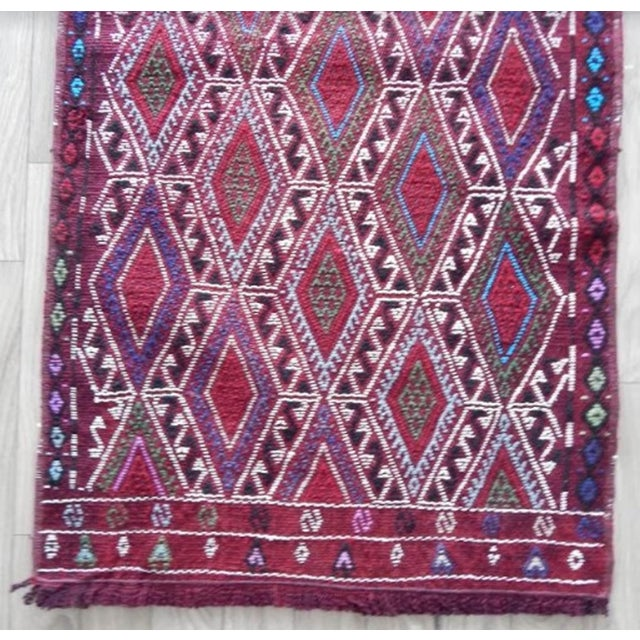 Vintage Mid Century Geometric Rug- 1′8″ × 2′12″ For Sale In Dallas - Image 6 of 8