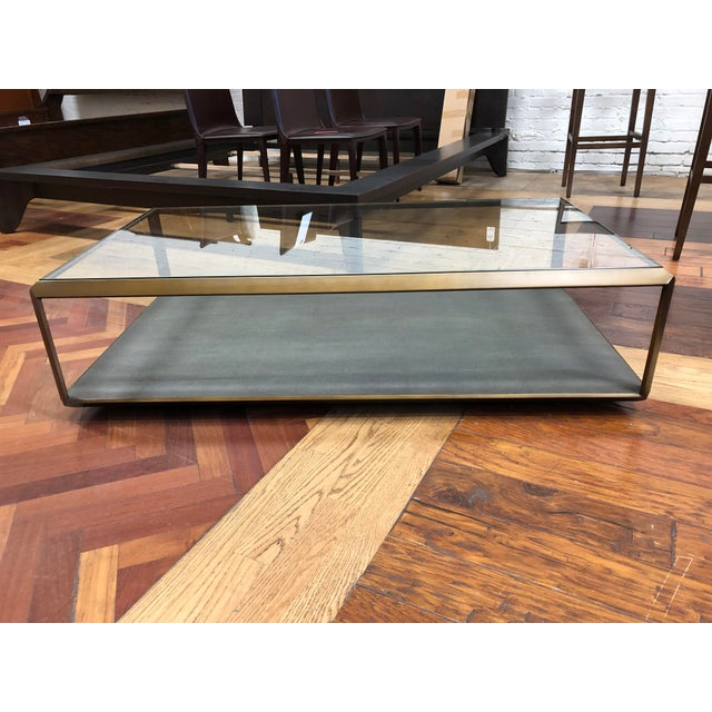 New Four Hands Bentley Shagreen Shadow Box Coffee Table For Sale - Image 11 of 11