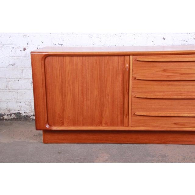 Mid 20th Century Bernhard Pedersen & Son Danish Modern Teak Tambour Door Sideboard Credenza For Sale - Image 5 of 13